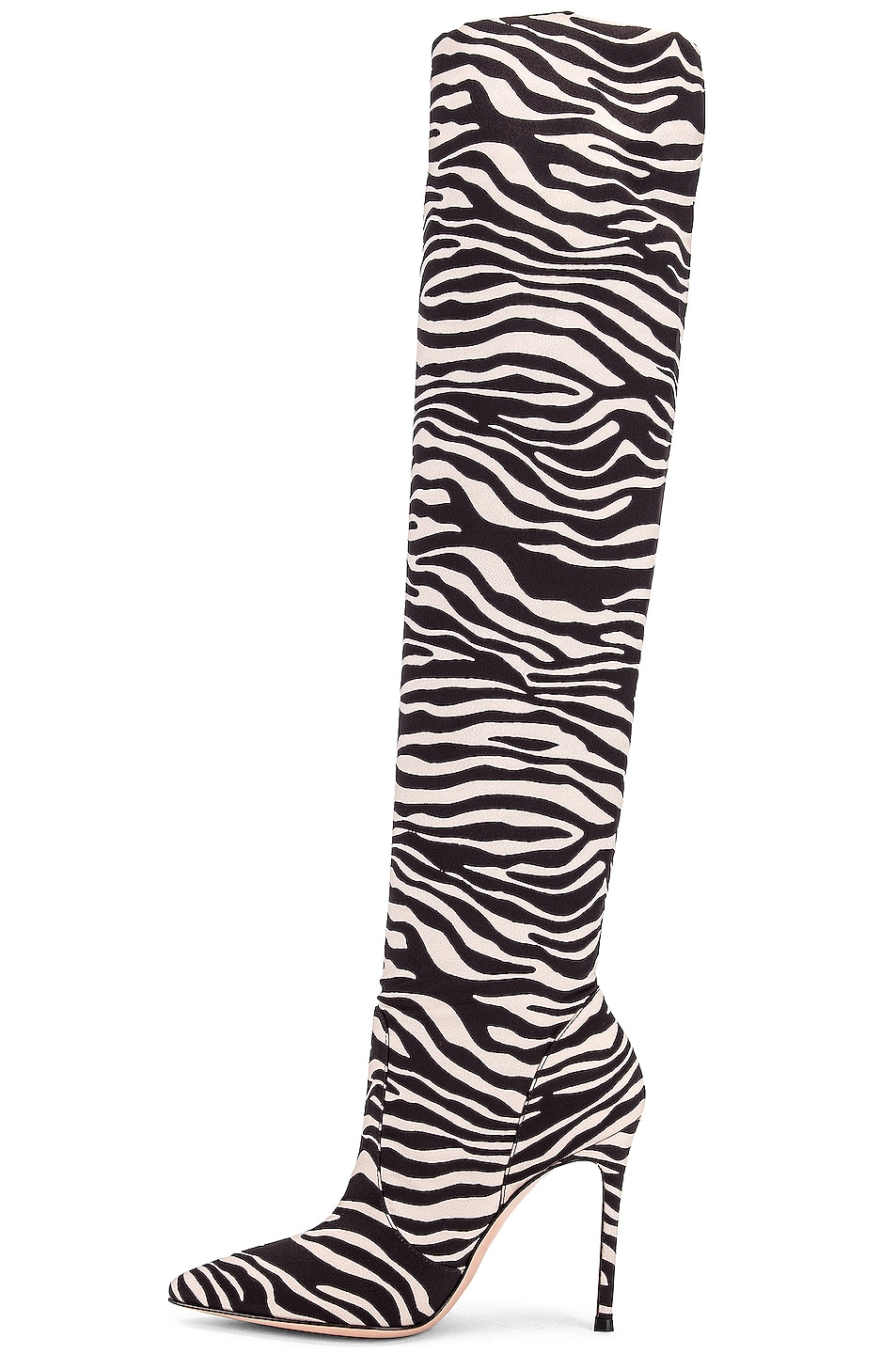 Image 5 of Gianvito Rossi Suede Knee High Boots in Zebra