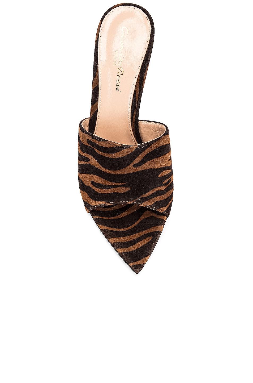 Image 4 of Gianvito Rossi Suede Mules in Texas Zebra Print