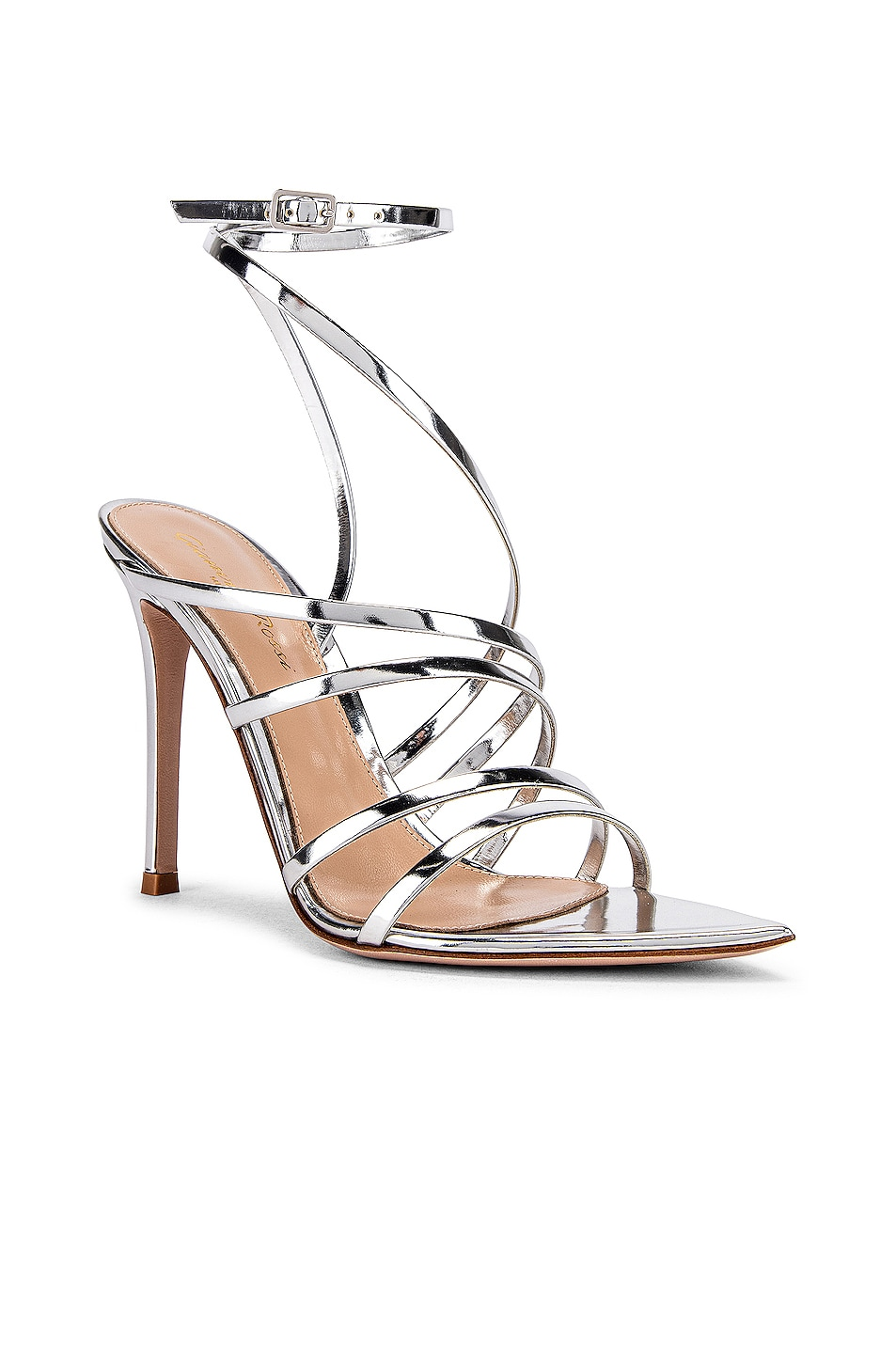 Image 2 of Gianvito Rossi Strappy Heels in Silver