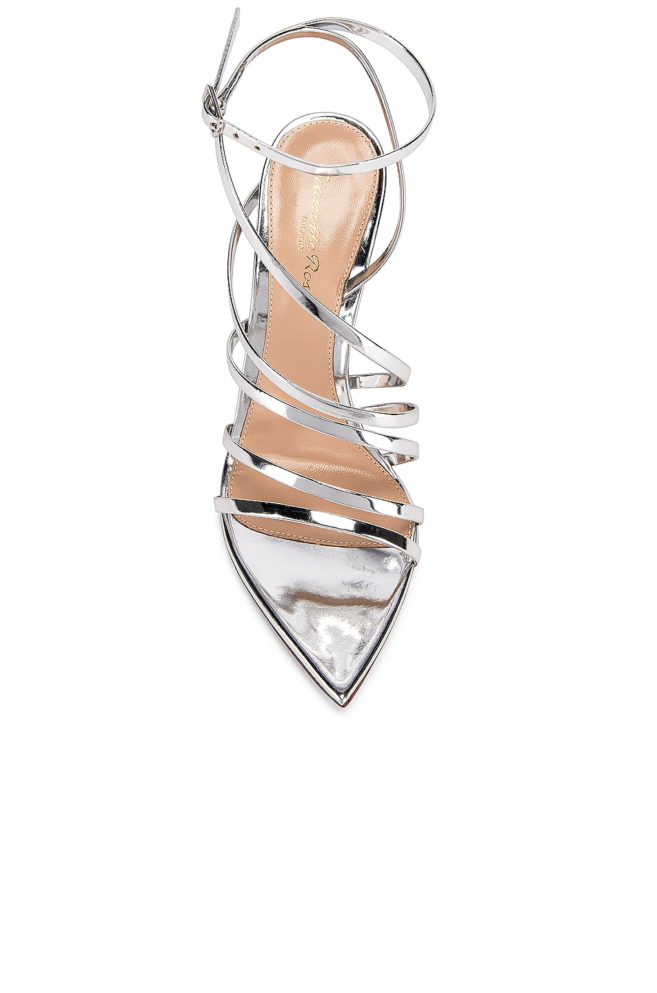 Image 4 of Gianvito Rossi Strappy Heels in Silver