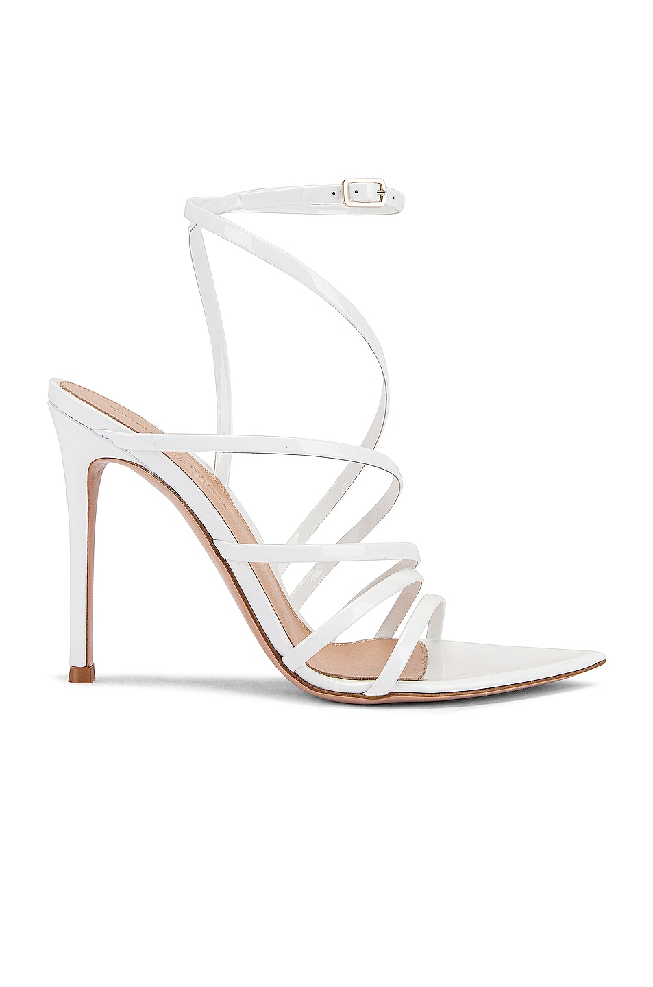 Image 1 of Gianvito Rossi Strappy Heels in White