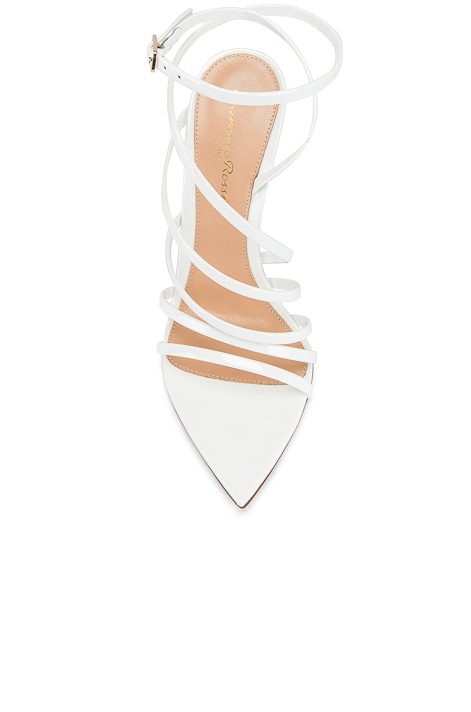 Image 4 of Gianvito Rossi Strappy Heels in White