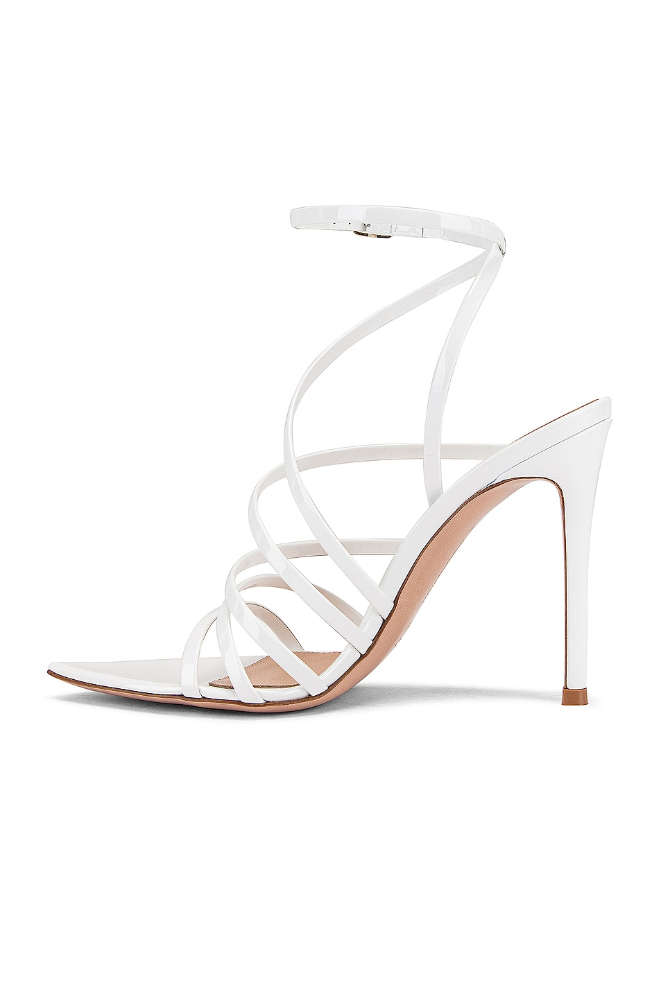 Image 5 of Gianvito Rossi Strappy Heels in White