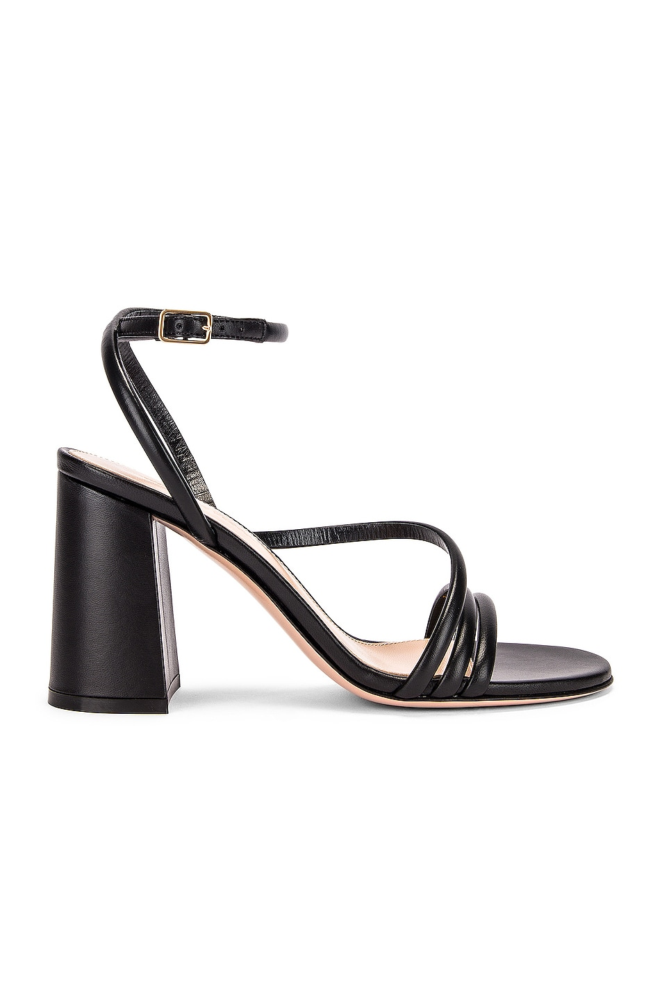 Image 1 of Gianvito Rossi Ankle Strap Sandals in Black