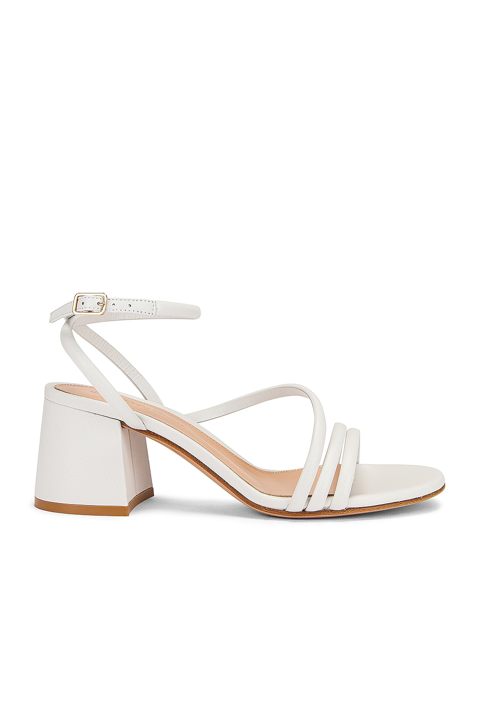 Image 1 of Gianvito Rossi Ankle Strap Sandals in White