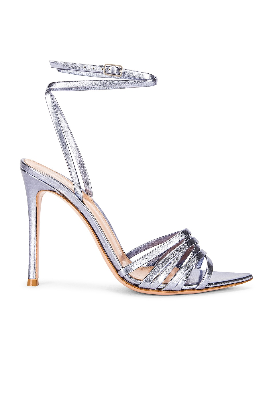 Image 1 of Gianvito Rossi Ankle Strap Sandals in Stonewash