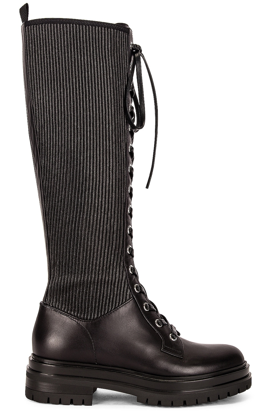 Image 1 of Gianvito Rossi Lace Up Boots in Black