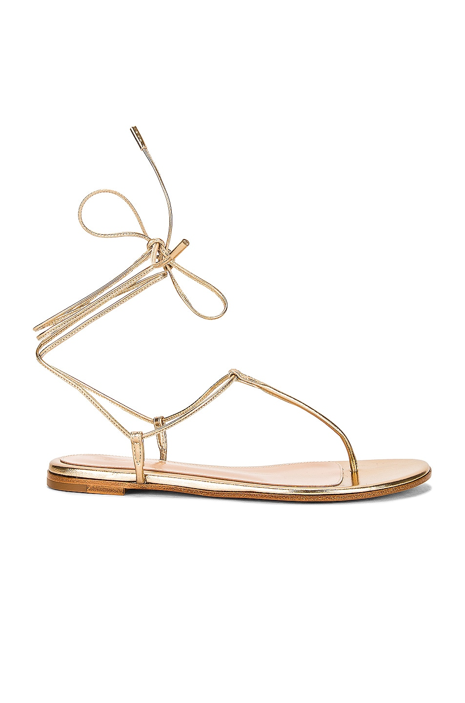 Image 1 of Gianvito Rossi Gwyneth Flat Sandals in Mekong