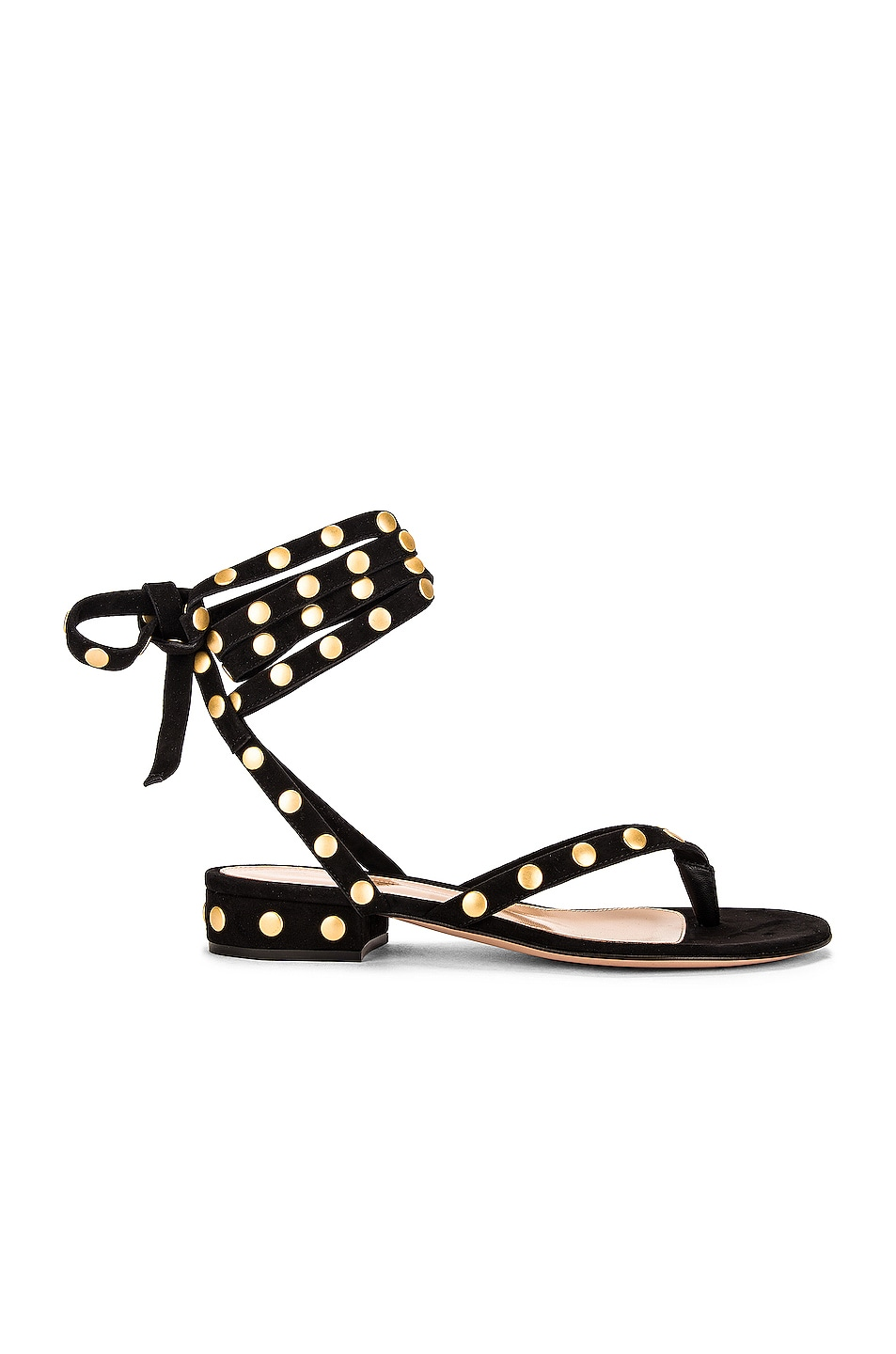Image 1 of Gianvito Rossi Suede Stud Sandals in Black