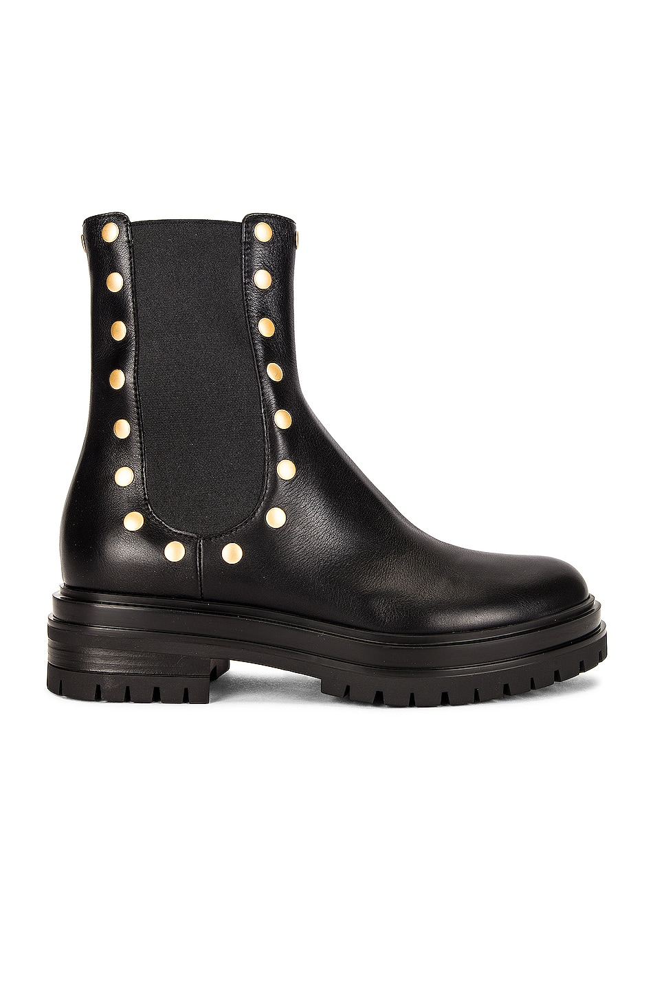 Image 1 of Gianvito Rossi Flair Stud Boots in Black