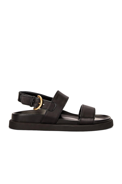 Image 1 of Gianvito Rossi Bilbao Sandals in Black & Black