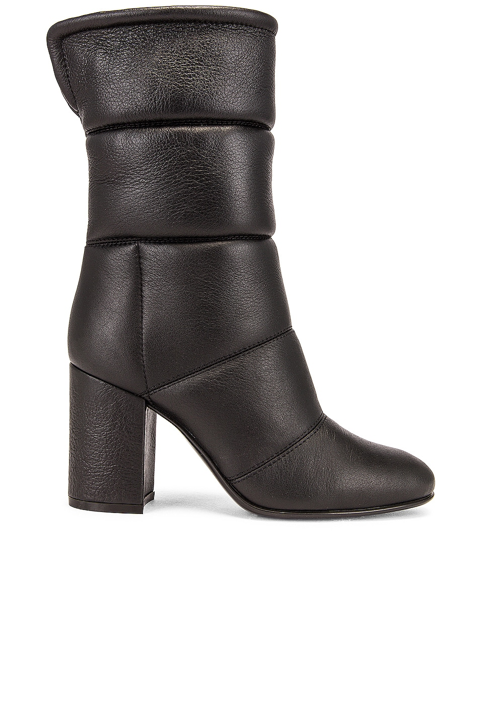 Image 1 of Gianvito Rossi Shearling Mid Calf Boots in Black