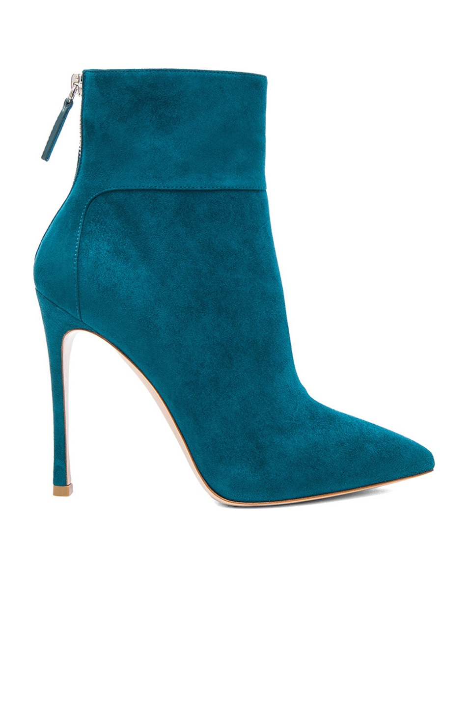 Image 1 of Gianvito Rossi Suede Ankle Booties in Pavone