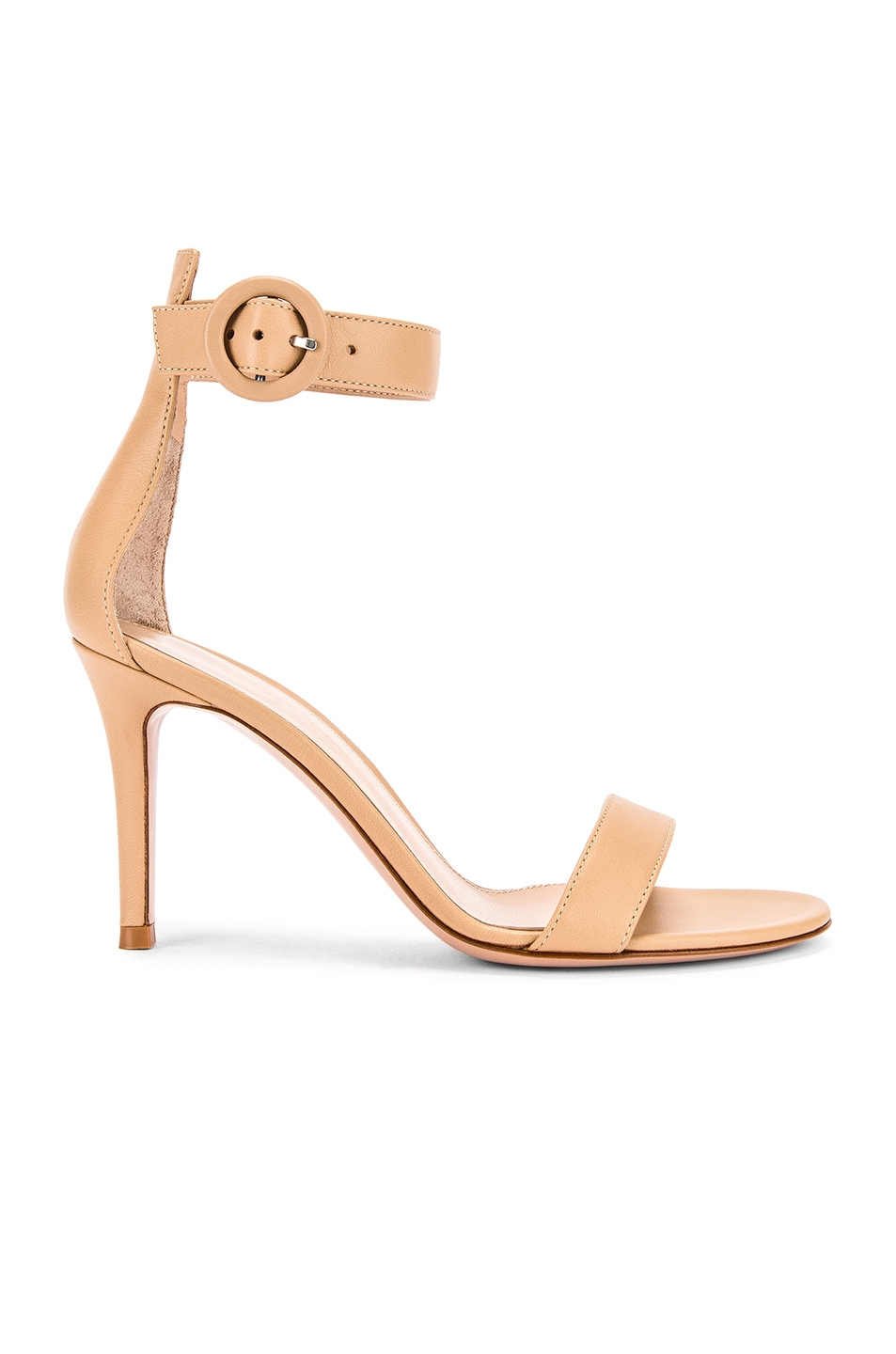 Image 1 of Gianvito Rossi Leather Portofino Heels in Nude