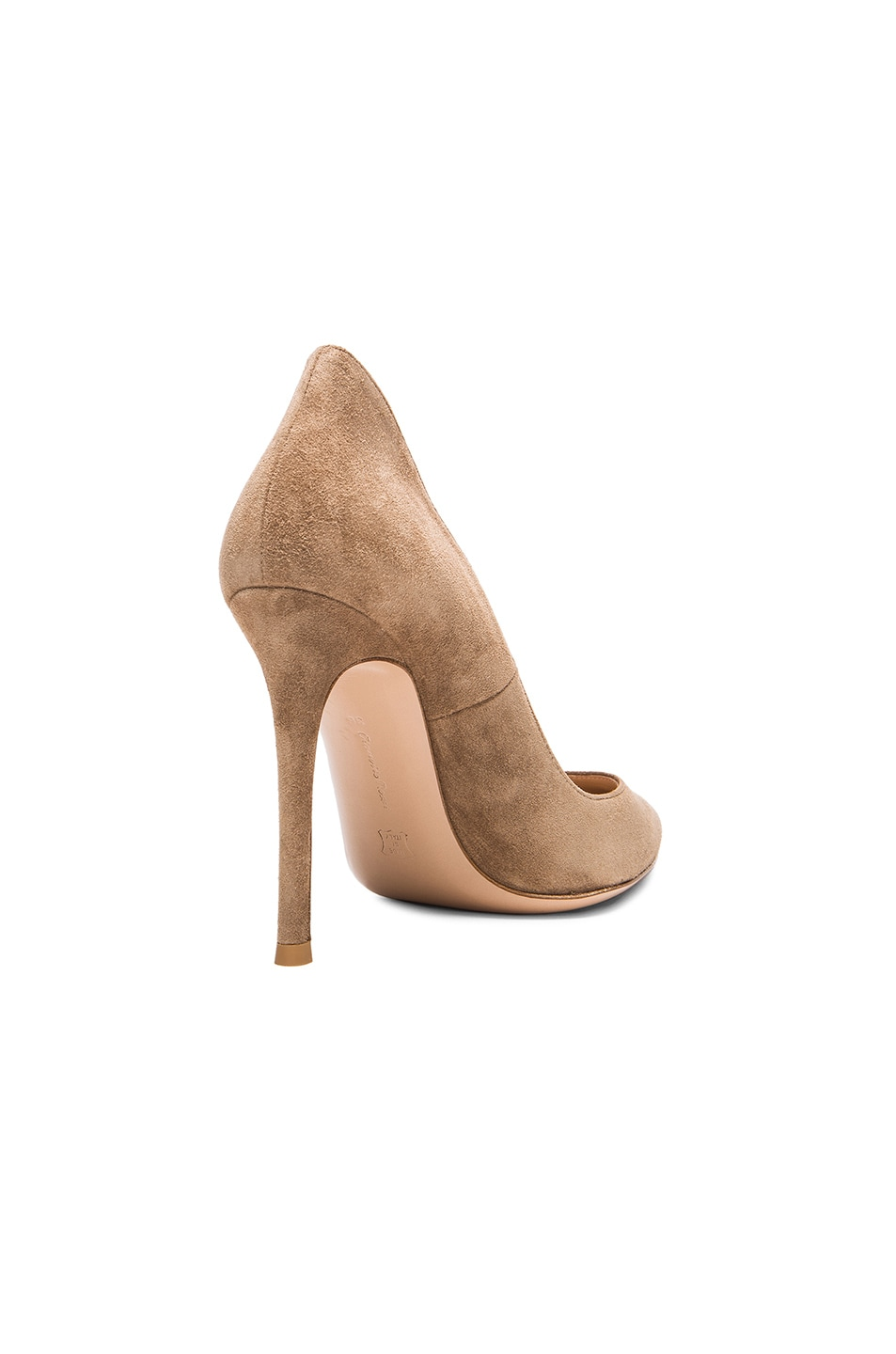Image 3 of Gianvito Rossi Suede Ellipsis Pumps in Camel