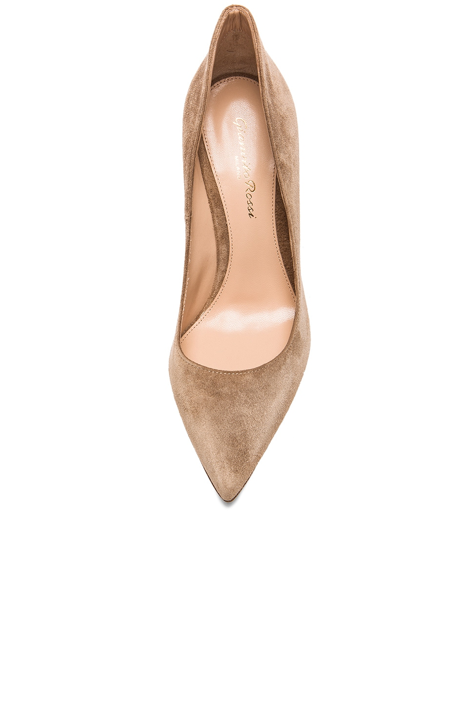 Image 4 of Gianvito Rossi Suede Ellipsis Pumps in Camel