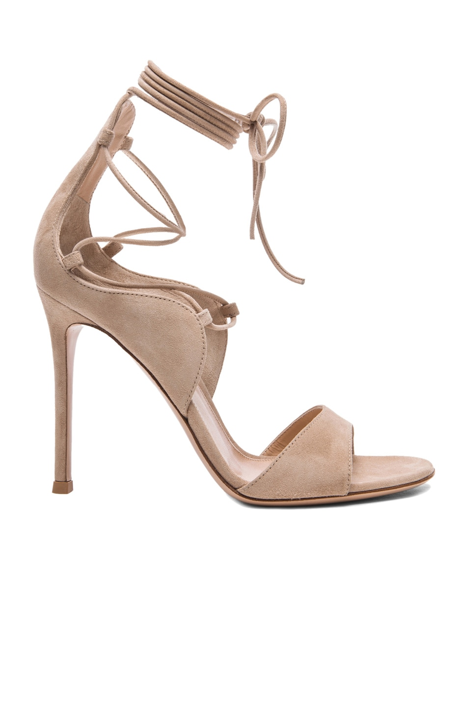 Image 1 of Gianvito Rossi Lace Up Heels in Rope Suede