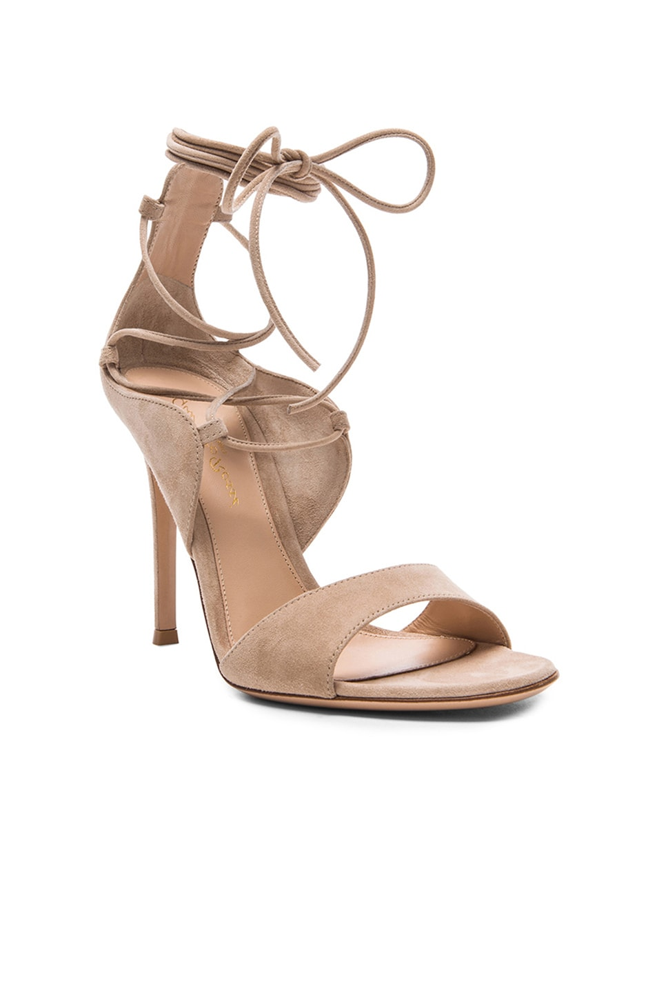Image 2 of Gianvito Rossi Lace Up Heels in Rope Suede