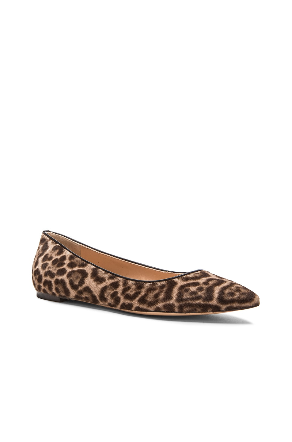 Image 2 of Gianvito Rossi Pointed Flats in Lynx Pony Hair