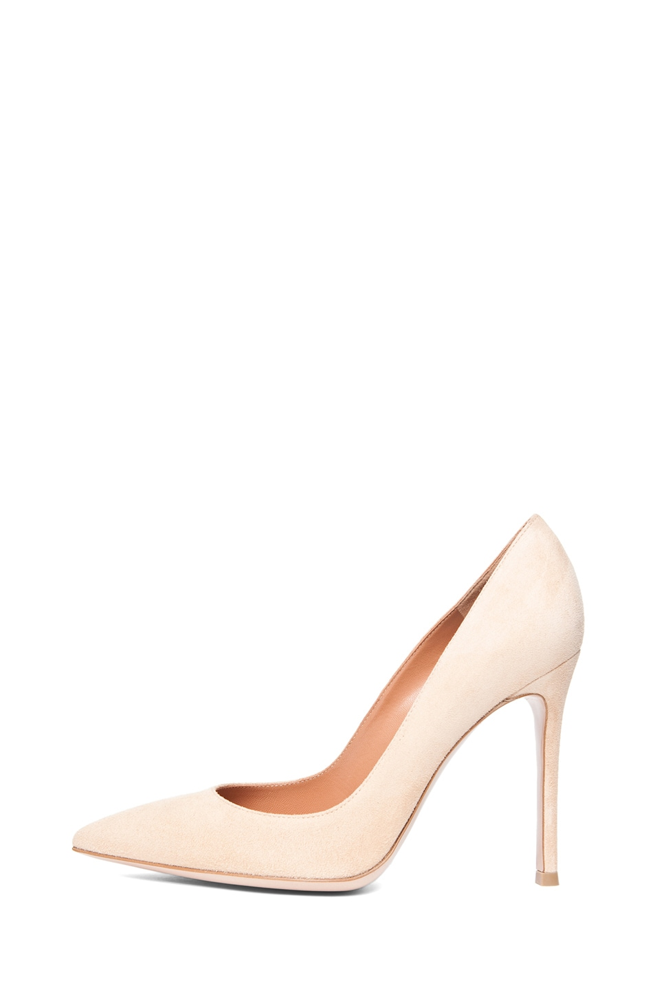Image 1 of Gianvito Rossi Suede Pumps in Nude