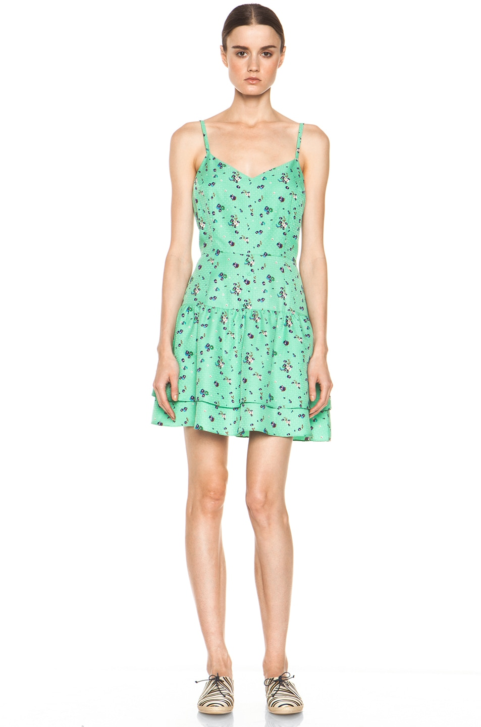 Image 1 of Girl. by Band of Outsiders  Silk Dress in Sea Green