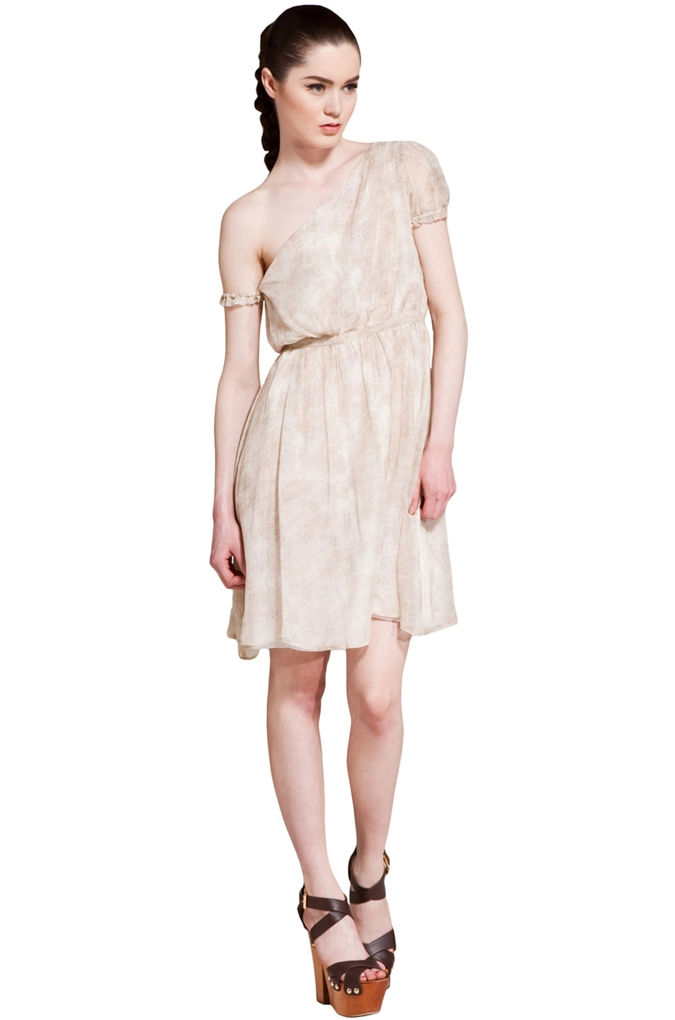 Image 1 of Girl. by Band of Outsiders Amanda Dress in Nude