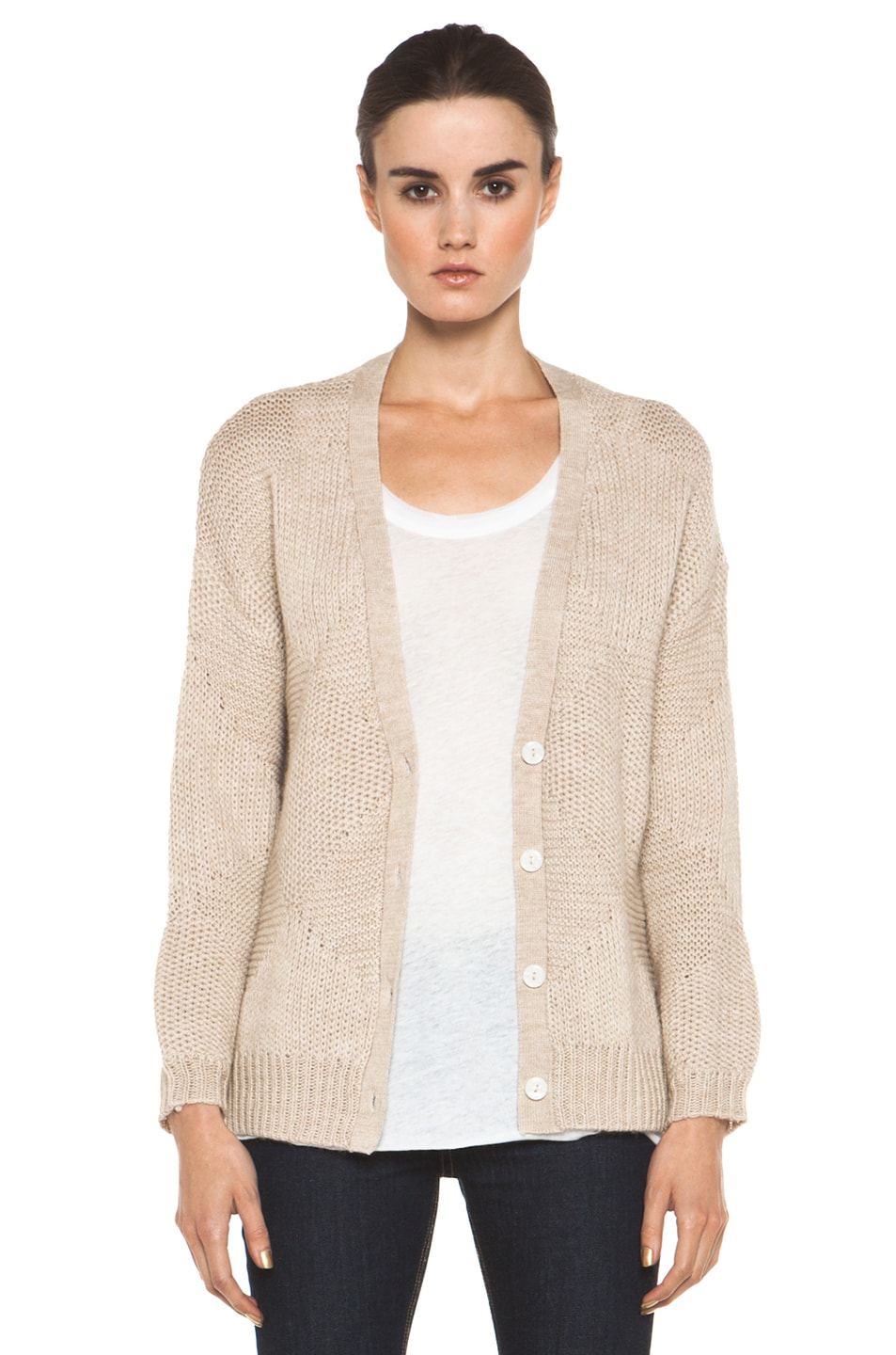 Image 1 of Girl Angel Cardigan in Natural