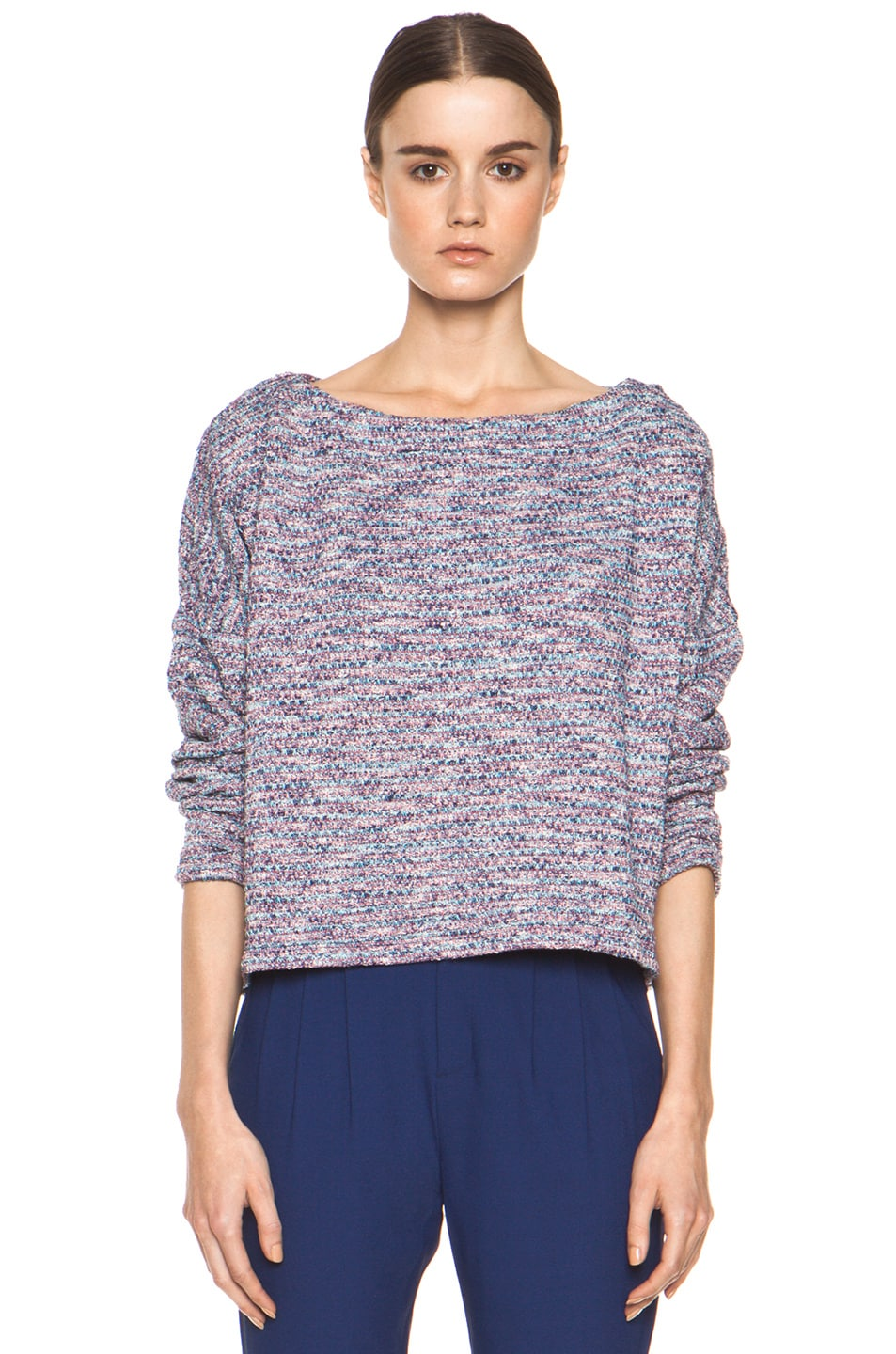 Image 1 of Girl. by Band of Outsiders Knit Tweed Sweater in Multi