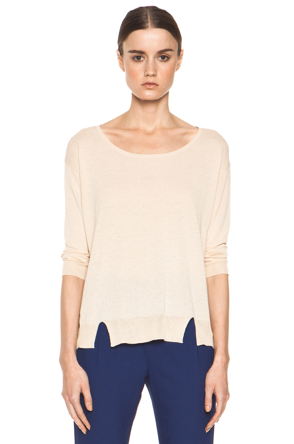 Image 1 of Girl. by Band of Outsiders Malibu Basic Sweater in Nude