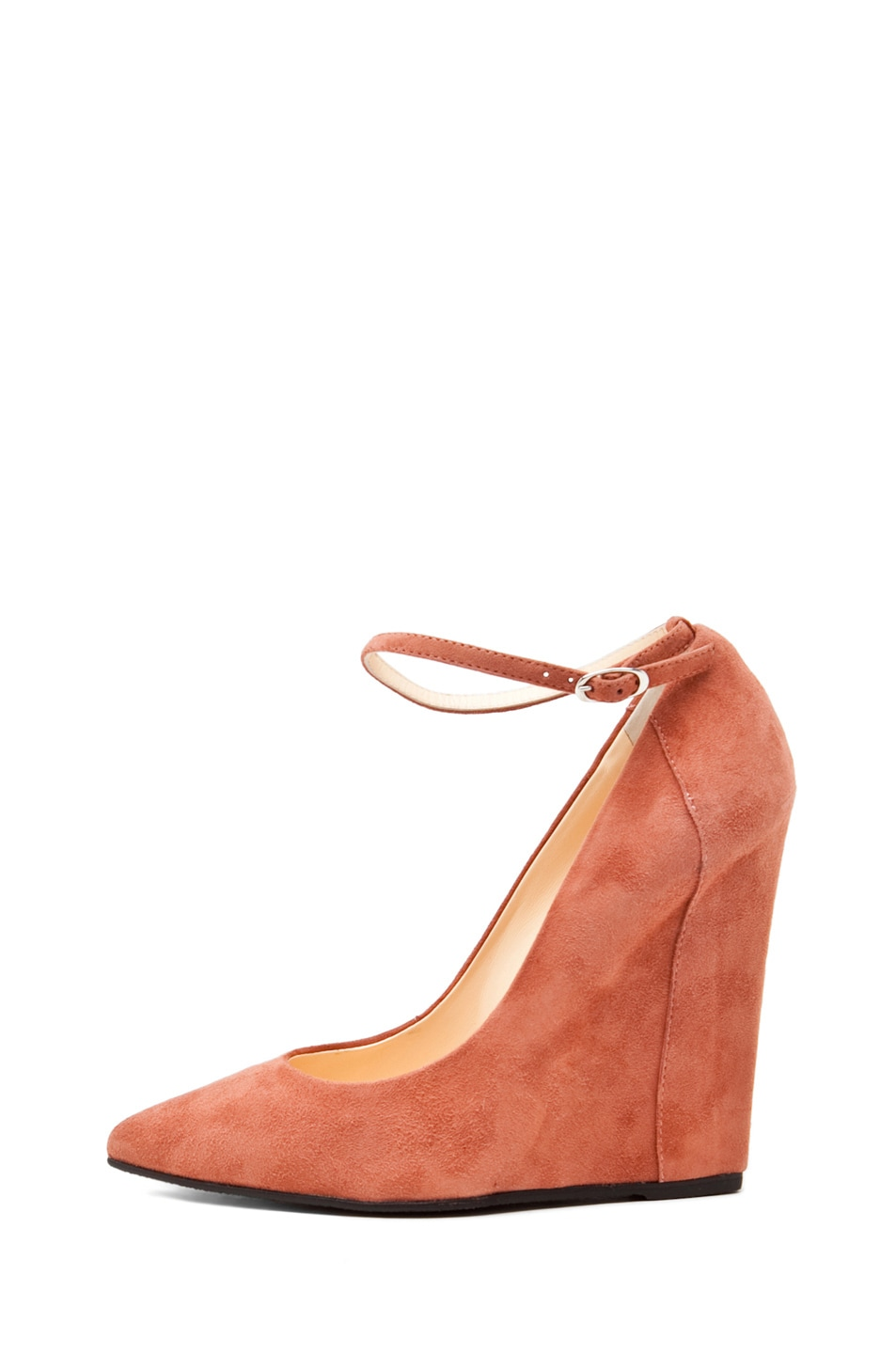 Image 1 of Giuseppe Zanotti Kill Ankle Strap Wedge in Nude