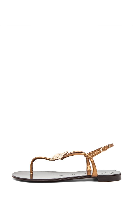 Image 1 of Giuseppe Zanotti Embellished Star Sandal in Bronze