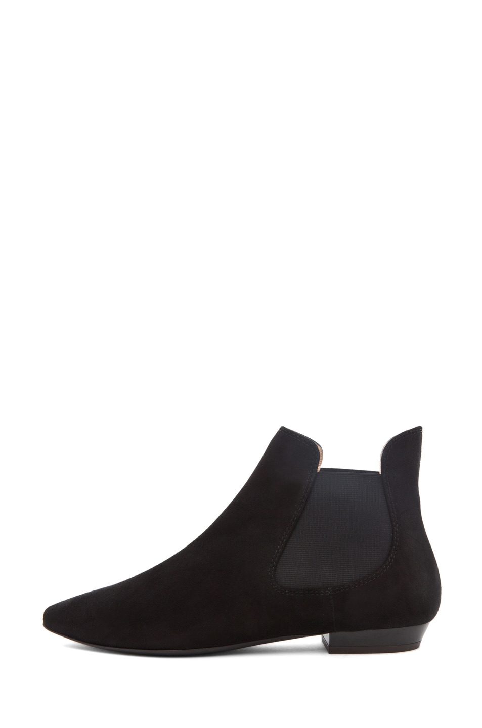 Image 1 of Giuseppe Zanotti Flat Bootie Suede in Black