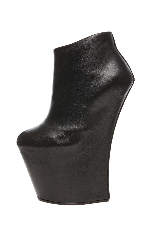 Image 1 of Giuseppe Zanotti GaGa Leather Wedge in Black