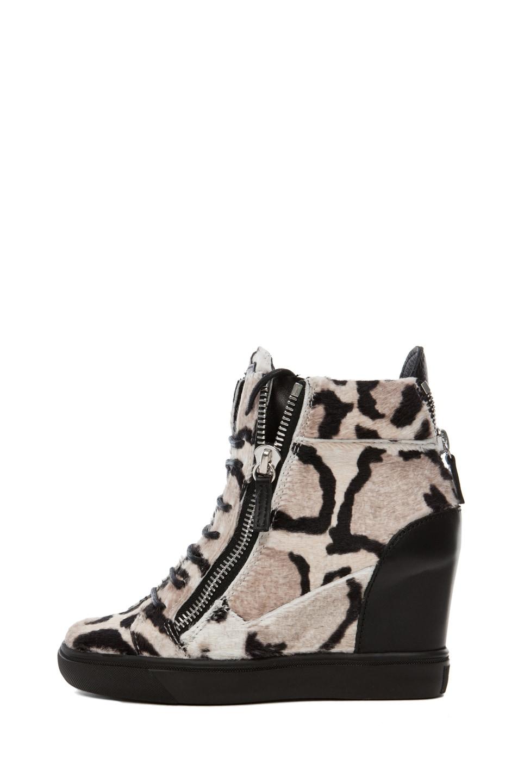 Image 1 of Giuseppe Zanotti Wedge Sneaker in Leopard