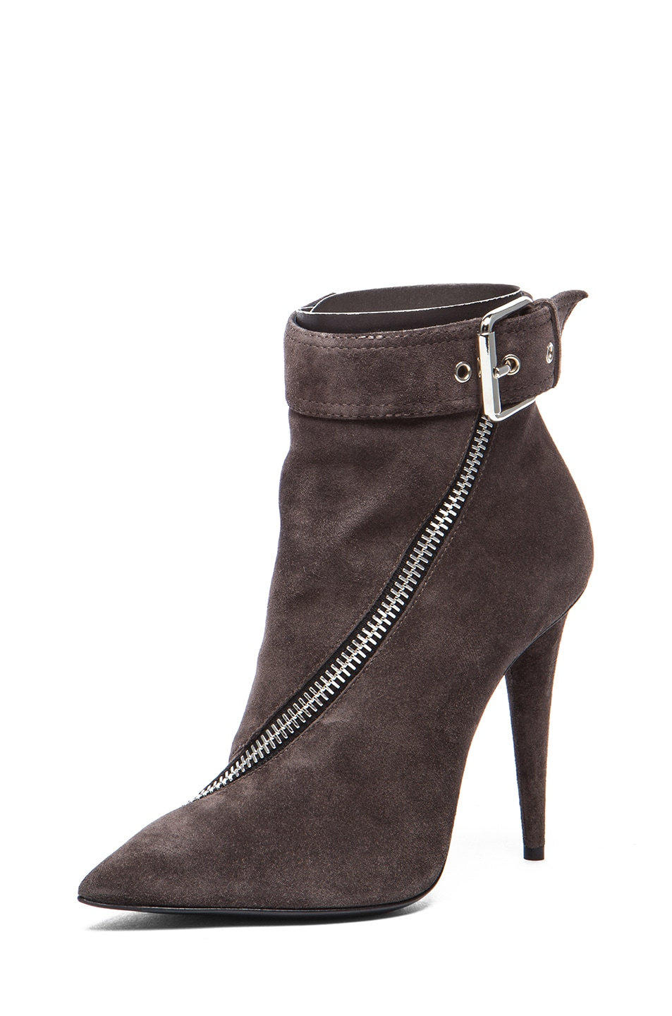 Image 2 of Giuseppe Zanotti Suede Booties in Flan
