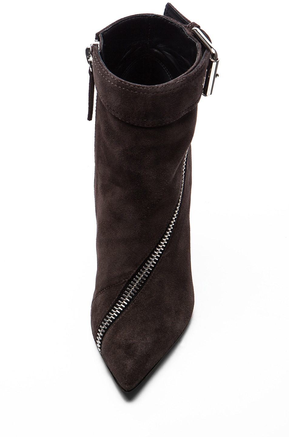Image 4 of Giuseppe Zanotti Suede Booties in Flan