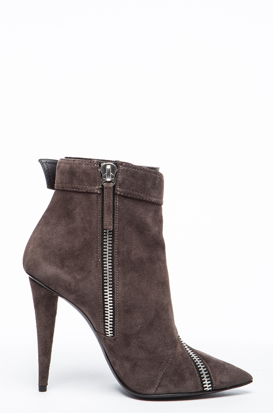 Image 5 of Giuseppe Zanotti Suede Booties in Flan