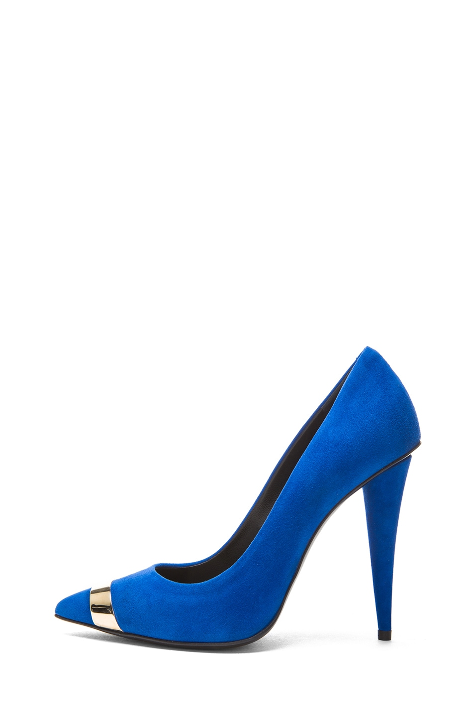 Image 1 of Giuseppe Zanotti Suede Pump in Klein