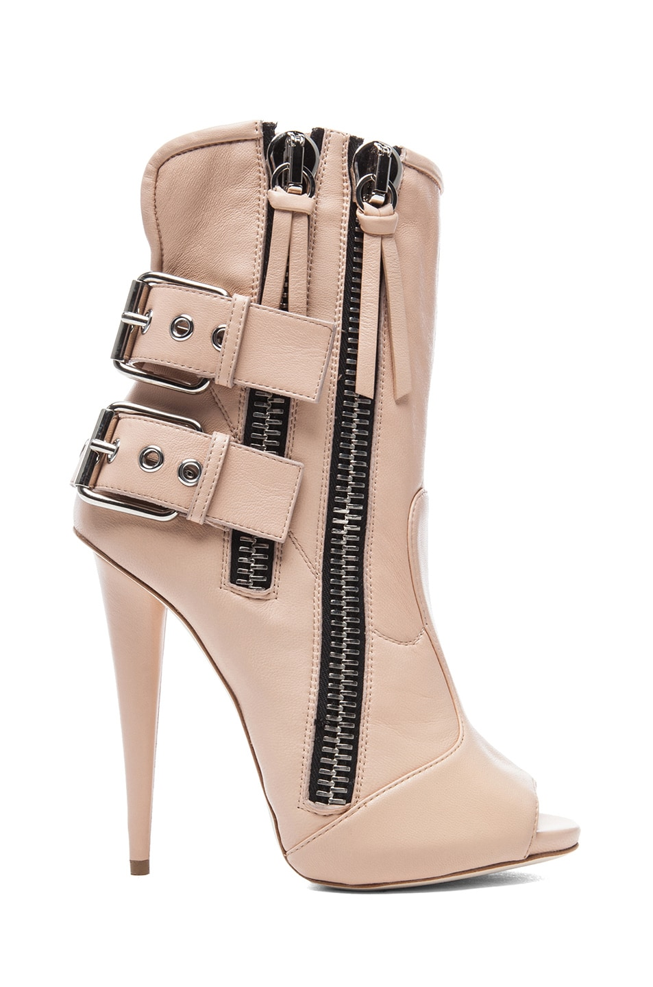 Image 1 of Giuseppe Zanotti Alien Leather Booties in Nude