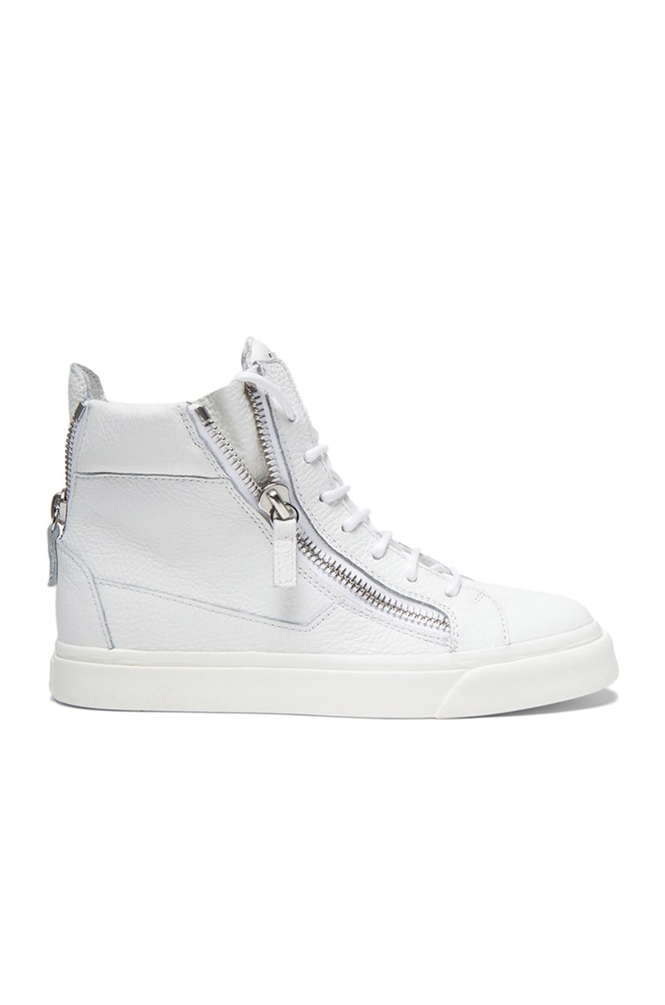 Image 1 of Giuseppe Zanotti Lindos Leather Sneakers in White