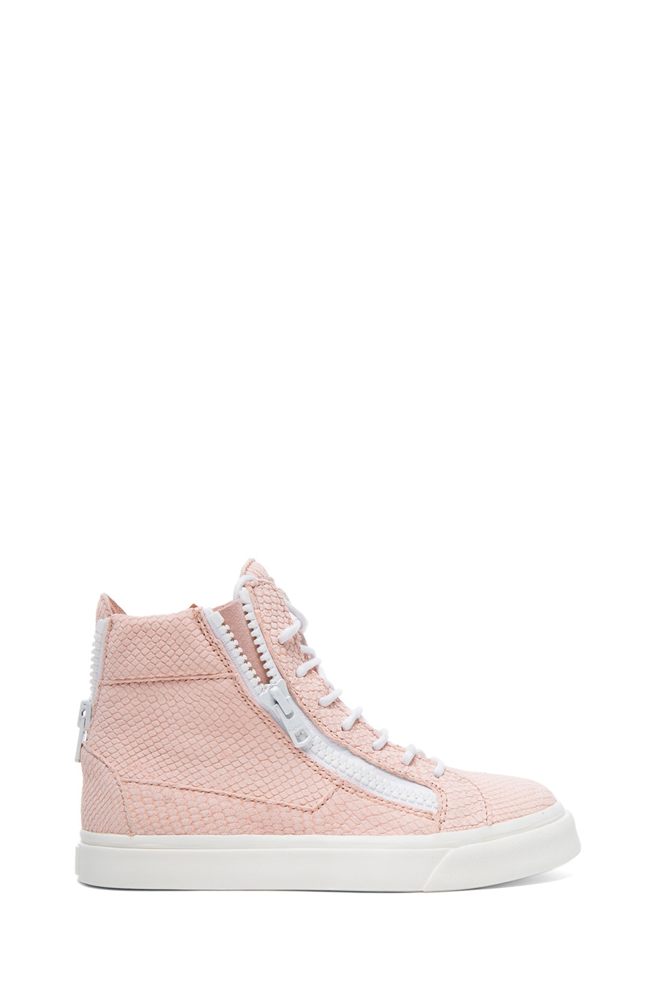 Image 1 of Giuseppe Zanotti Caspide Embossed Suede Sneakers in Shell