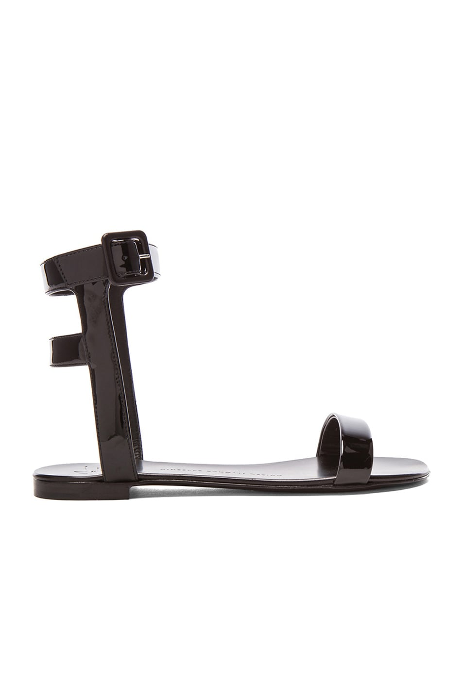 Image 1 of Giuseppe Zanotti Patent Leather Sandals in Black