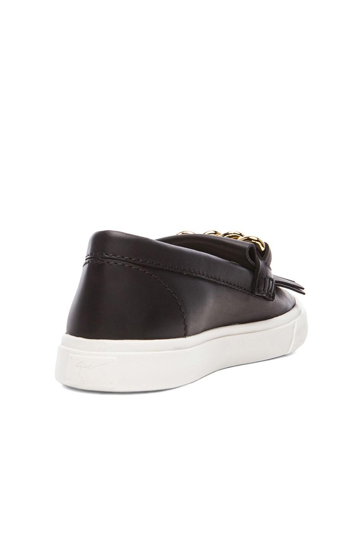0c2fc2b767f6f Image 3 of Giuseppe Zanotti Fringe & Chain Leather Slip-On Sneakers in Black