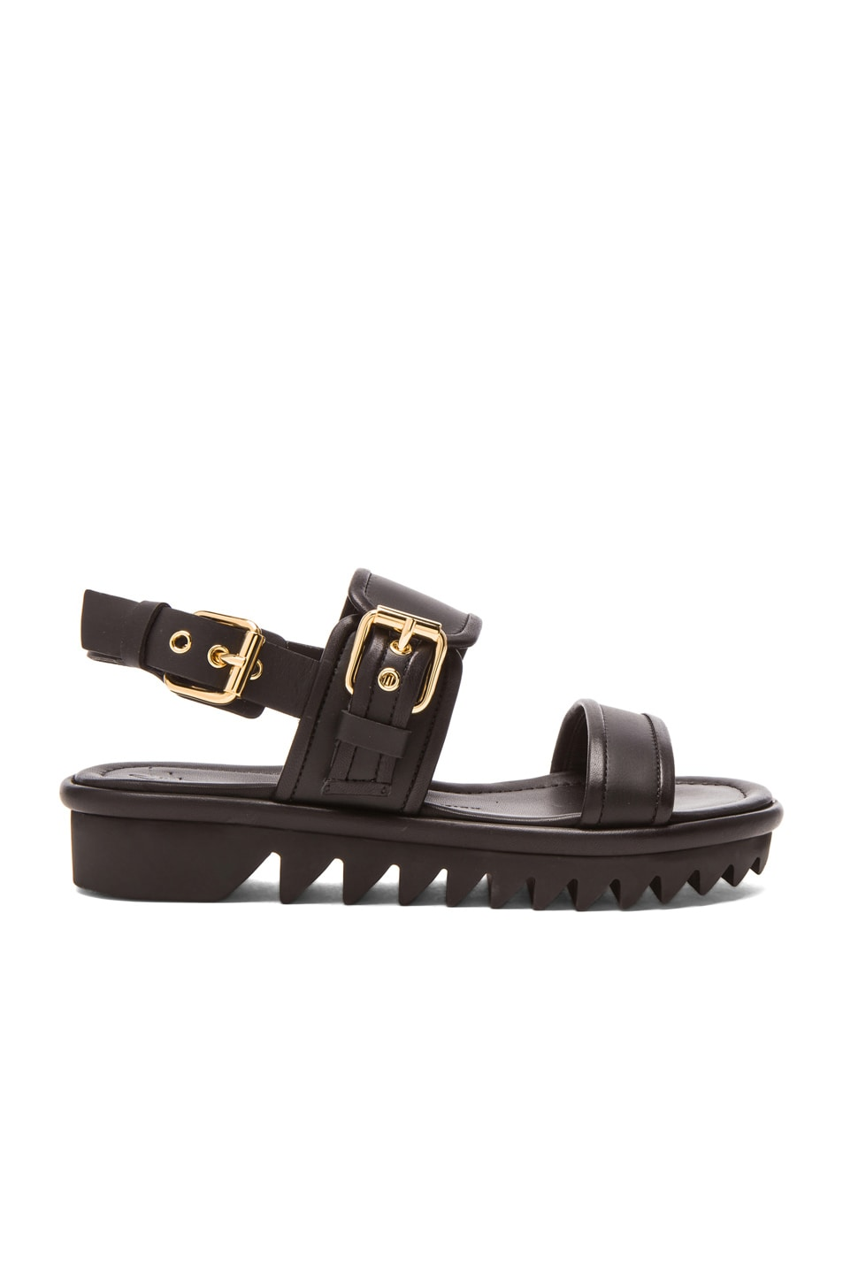 Image 1 of Giuseppe Zanotti Bucked Leather Sandals in Black