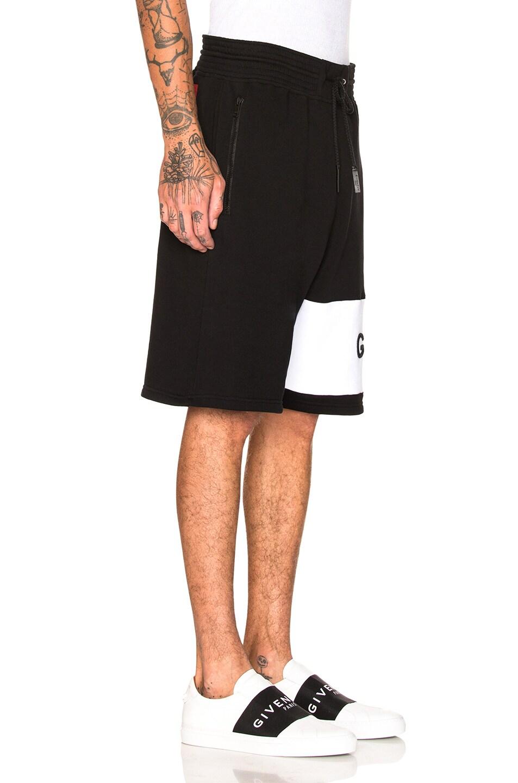 Image 2 of Givenchy Logo Sweatshorts in Black