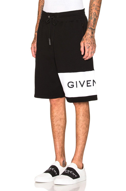 Image 3 of Givenchy Logo Sweatshorts in Black