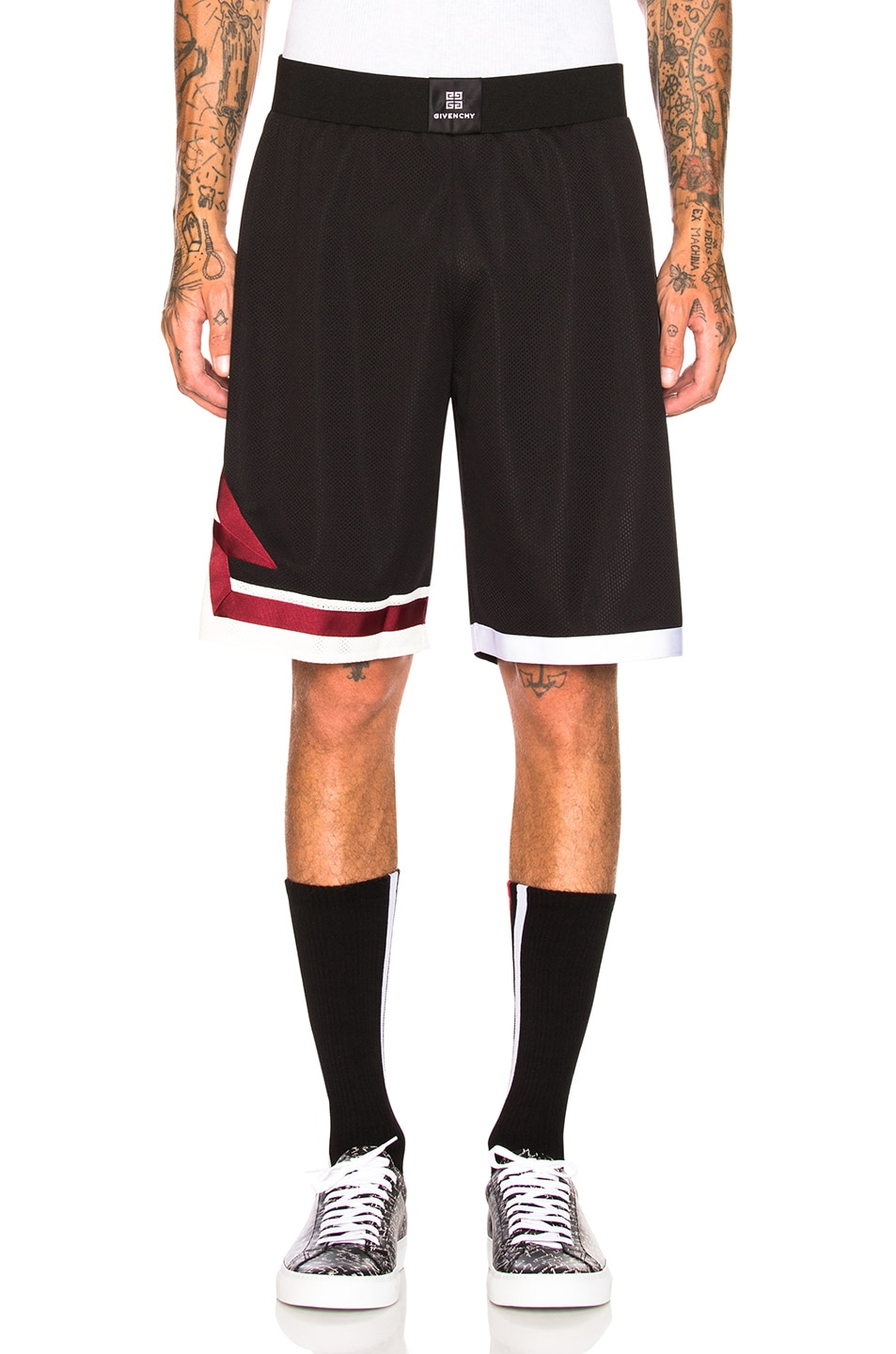 Image 2 of Givenchy Lightning Shorts in Black