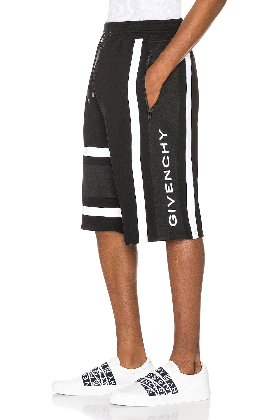 Image 1 of Givenchy Bermuda Band Short in Black & White