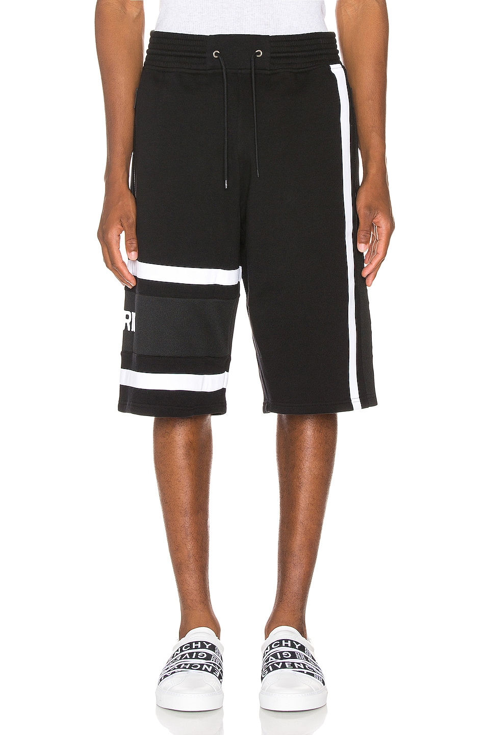 Image 2 of Givenchy Bermuda Band Short in Black & White