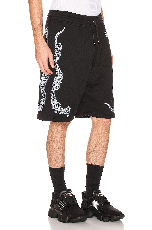 Image 2 of Givenchy Snake Print Bermuda Shorts in Black
